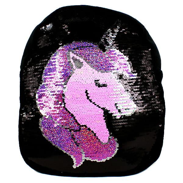 Текстильный рюкзак с пайеточным рисунком «Единорог»
