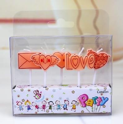 Набор праздничный свечей «LOVE»