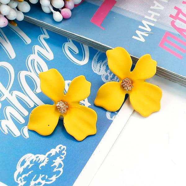 Серьги цветок «Эмаль»