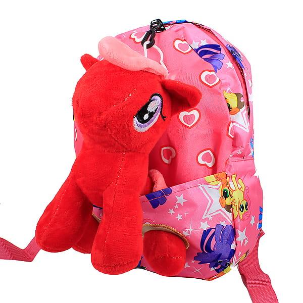 Мягкий текстильный рюкзак c игрушкой «Единорог»