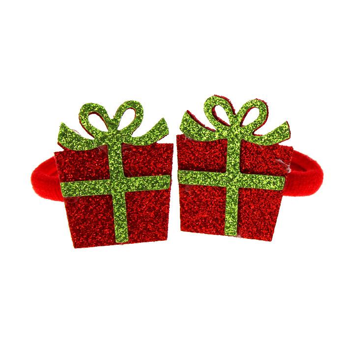 Резинки «Новогодние подарочки» блеск (пара)
