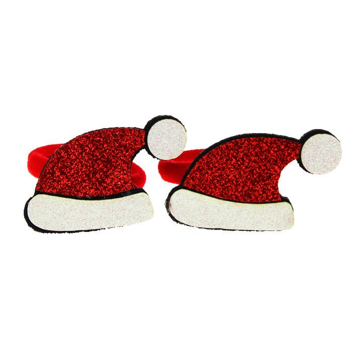 Резинки «Колпак Деда Мороза» блеск (пара)