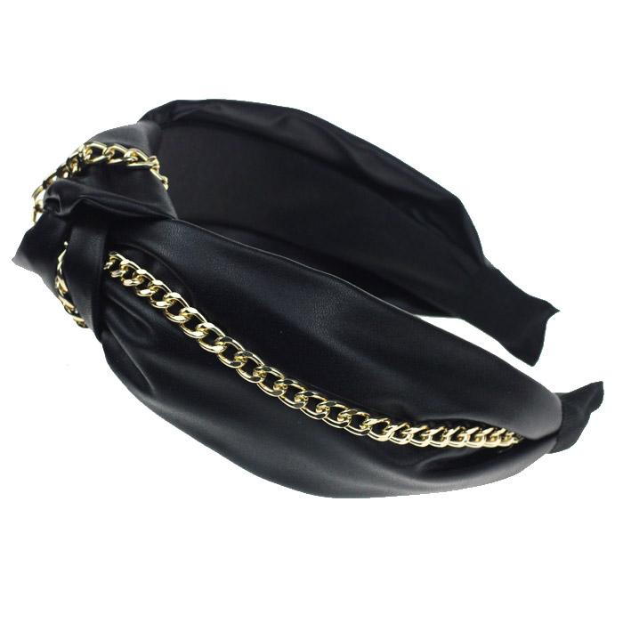 Ободок «Чалма» LUX черный