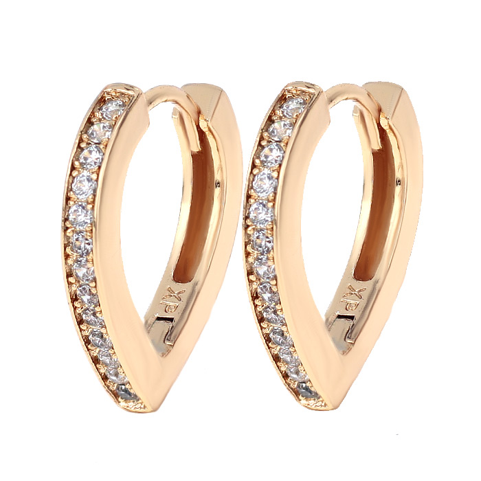Серьги «Ряд камней» золото