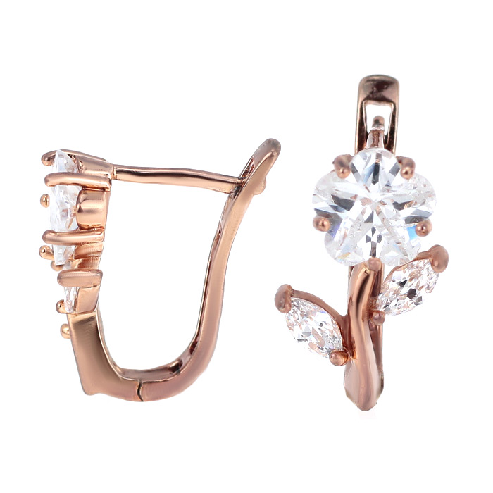 Серьги с кристаллами «Luxury»