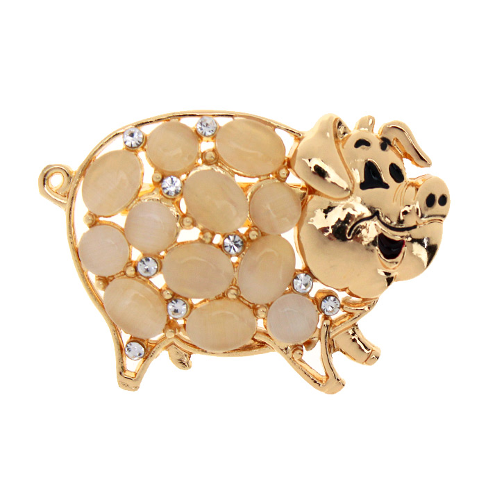 Брошь «Свинка»