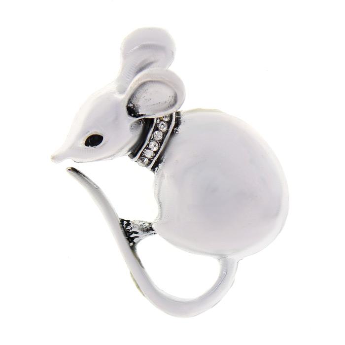 Брошь «Мышка» 3 см