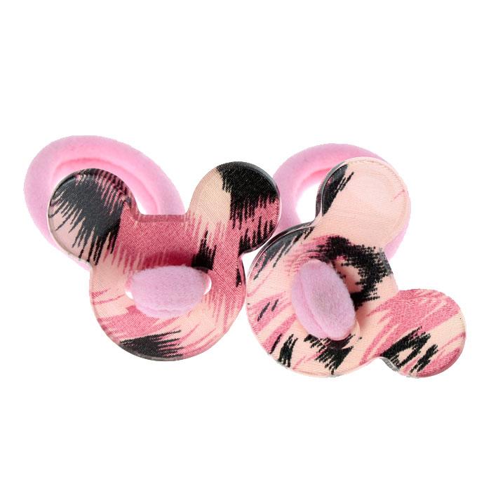 Резинки для волос «Глянцевый принтованный пластик» 2 шт